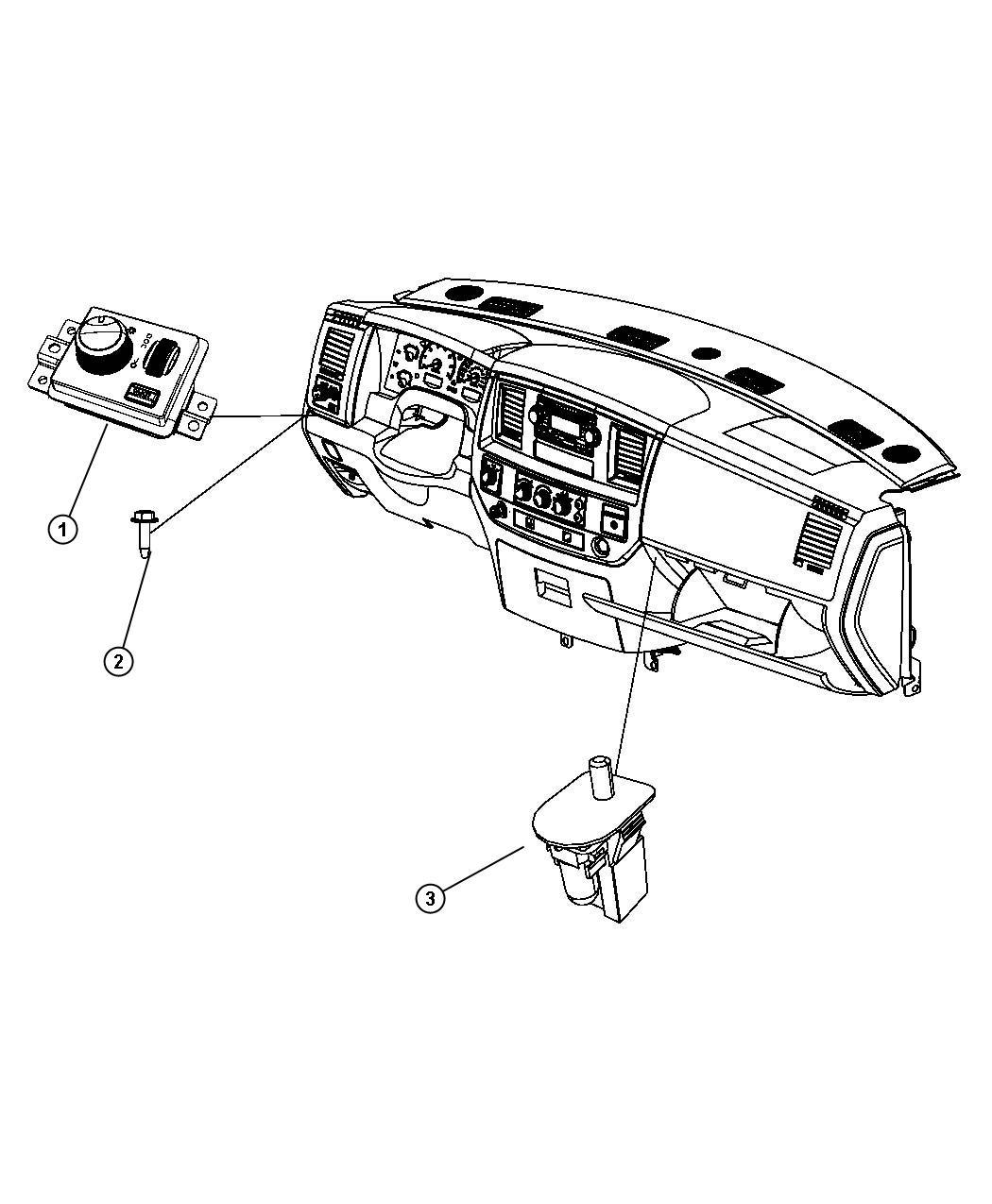 Dodge Ram 1500 Switch. Headlamp. Automatic, cargo