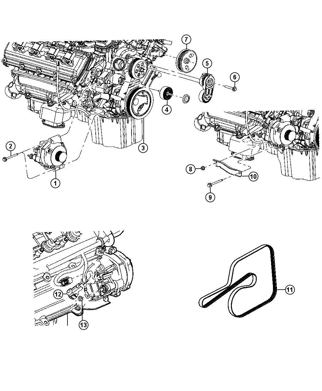 Dodge Challenger Generator Engine Alternator Amp Bab
