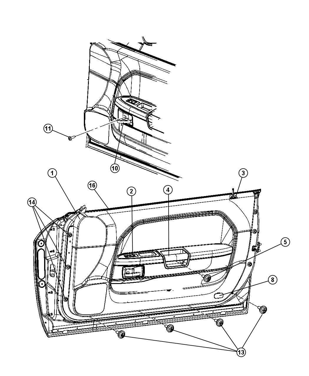 2009 Dodge Challenger Molding kit. Door belt. [mopar hood