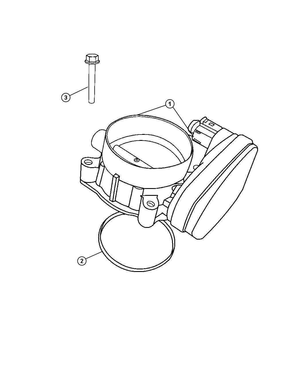 Dodge Challenger Throttle body. Intake, manifold, plenum