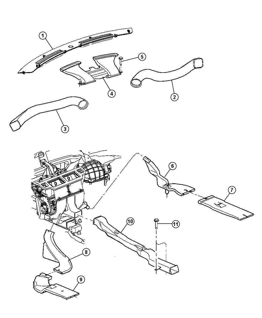 Service manual [2009 Chrysler 300 Heater Blower Replace