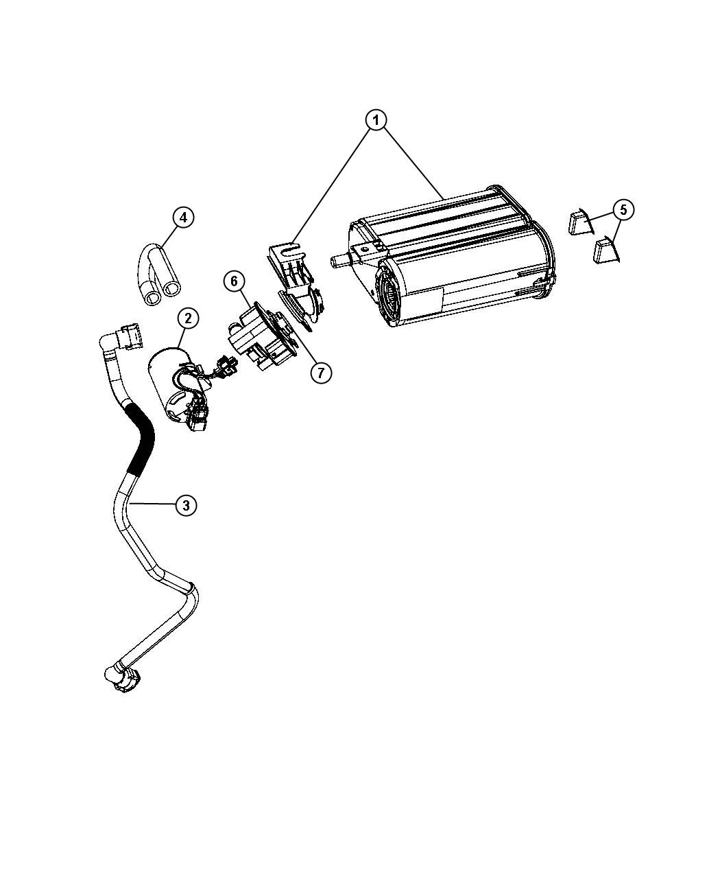 2009 Dodge Challenger Tube. Fuel vapor. Lines, leak