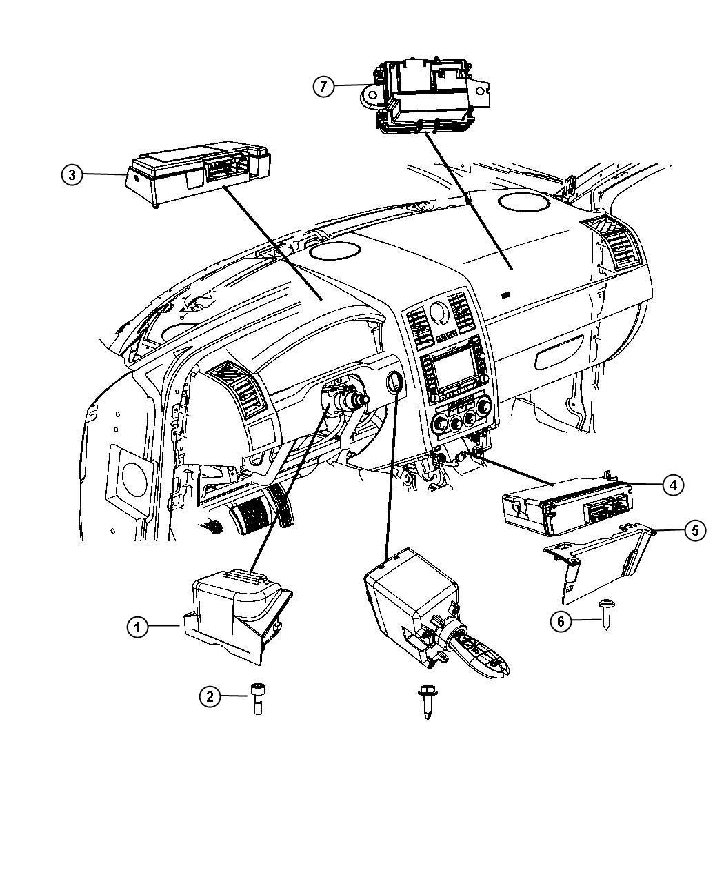 2009 Chrysler 300 Module. Interface, steering control