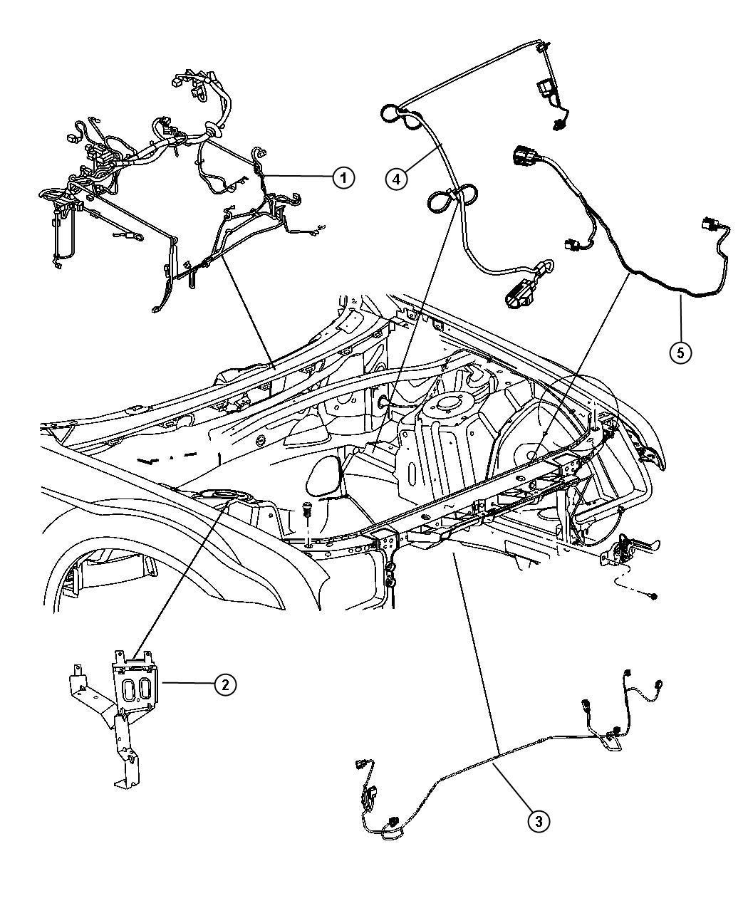 Chrysler 300 Wiring Headlamp To Dash Emissions