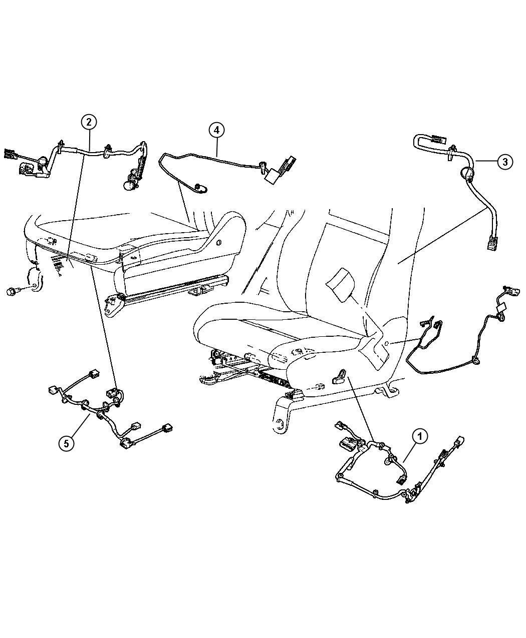 2009 Chrysler 300 Wiring. Seat. Power without memory. Trim