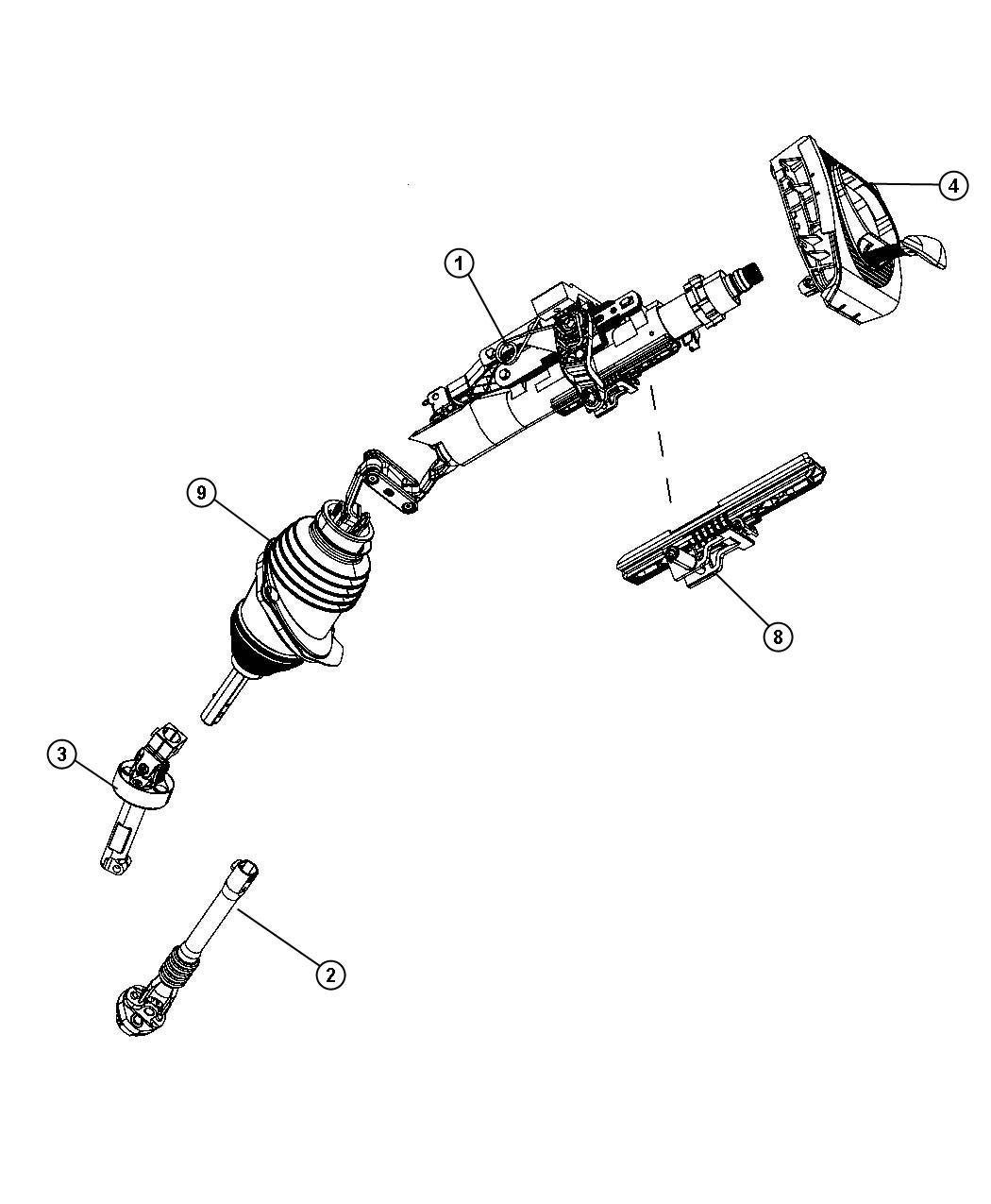 Dodge Charger Tilt lock package. Manual steering column