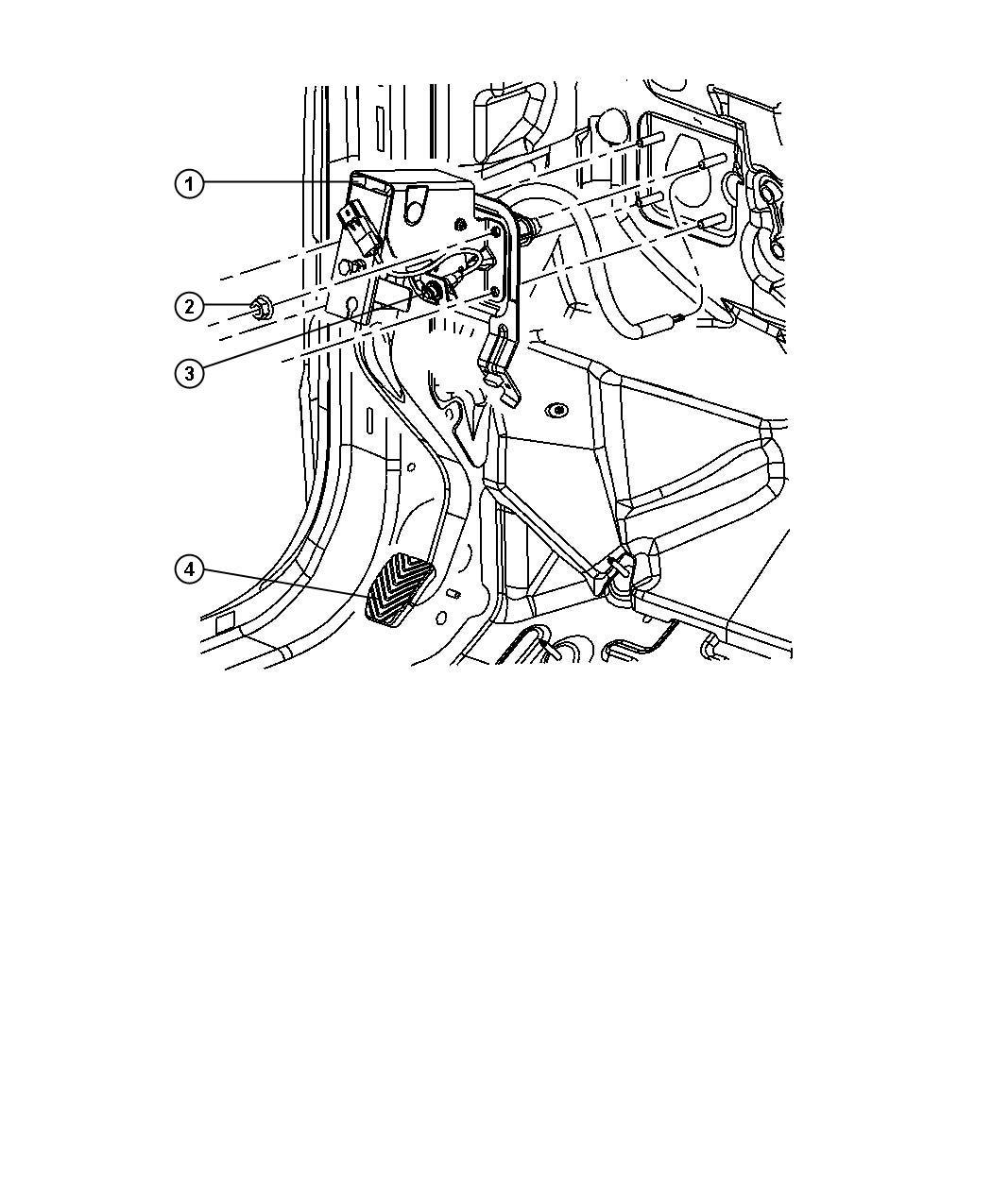 2009 Jeep Compass Switch. Clutch starter interlock. [5