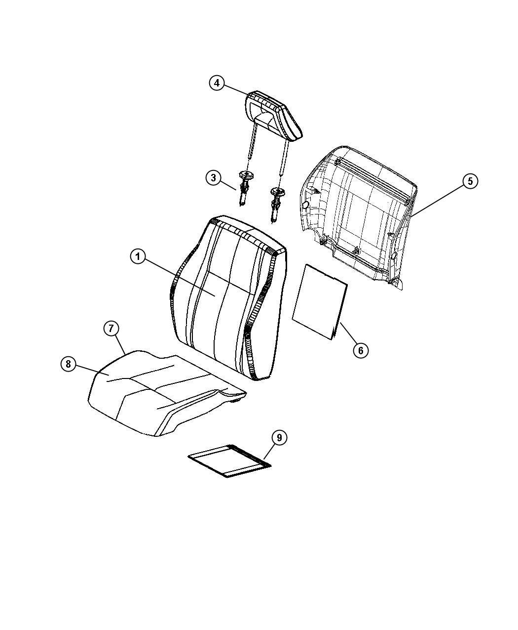 Dodge Caliber Cover. Front seat cushion. [dv] [rear 60/40