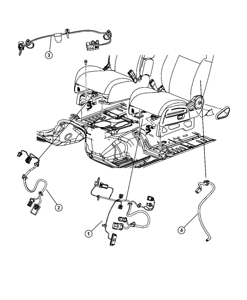 Jeep Patriot Wiring. Seat. Fold flat seat, side air bag