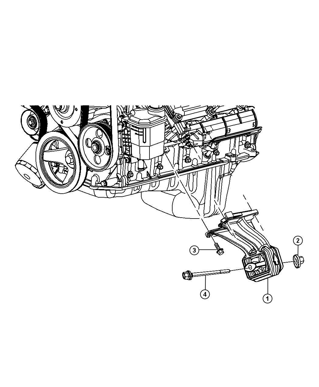 2011 Dodge Ram 1500 Insulator. Engine mount. Left side