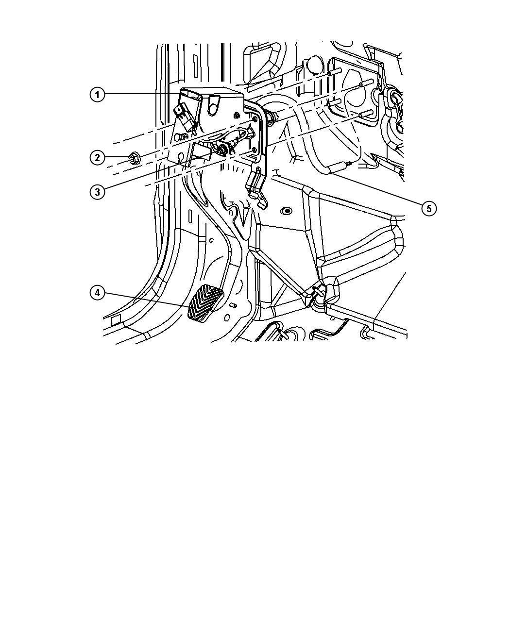 Dodge Caliber Pedal. Clutch. [5-speed manual t355