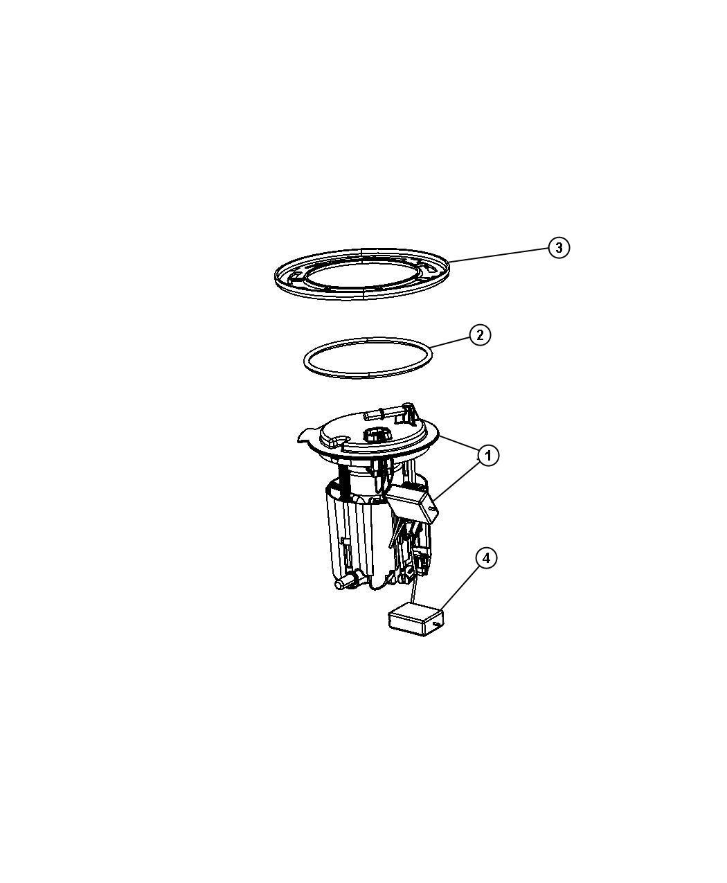 2014 Jeep Compass Module kit, module package. Fuel pump