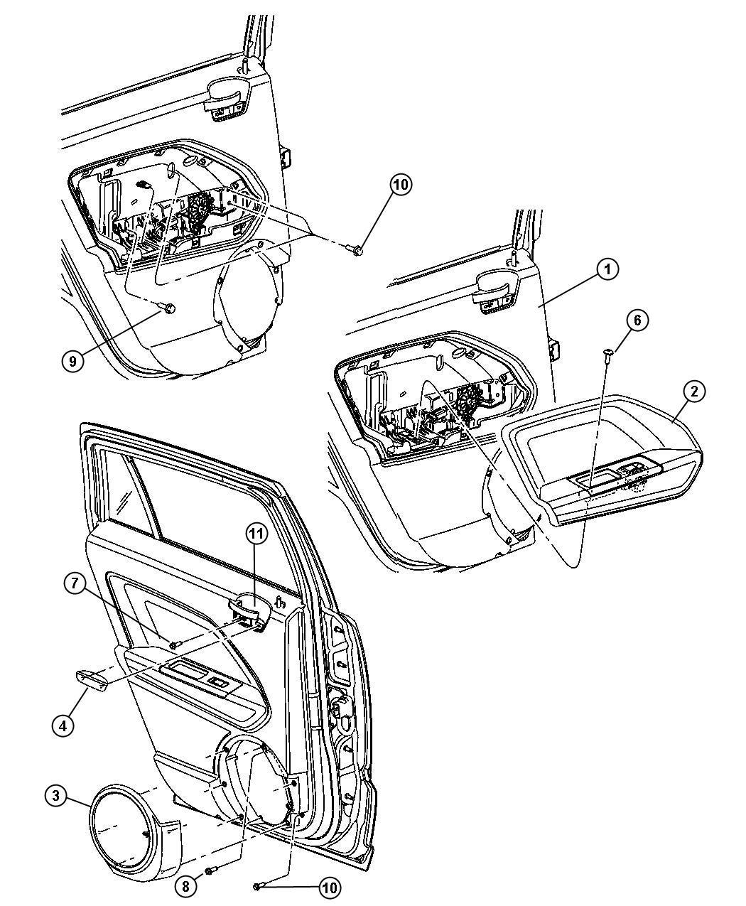 Jeep Compass Panel. Rear door trim. Left. Trim: [no