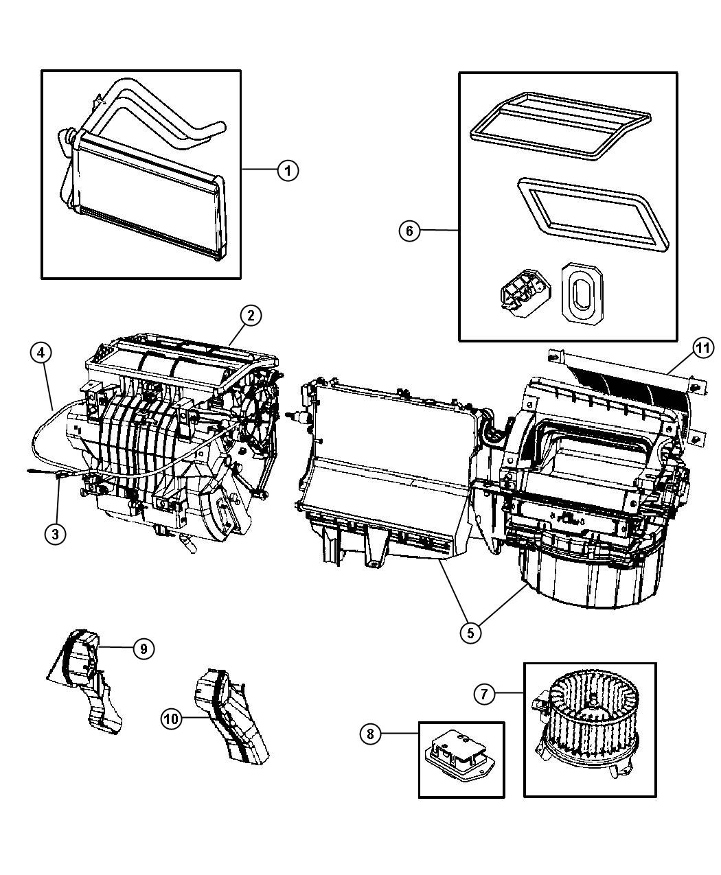 Jeep Patriot Seal Kit Used For A C And Heater Unit