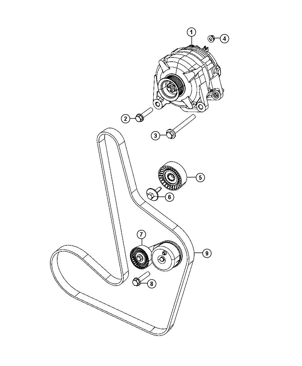 Dodge Avenger Tensioner Belt Related Pulleys