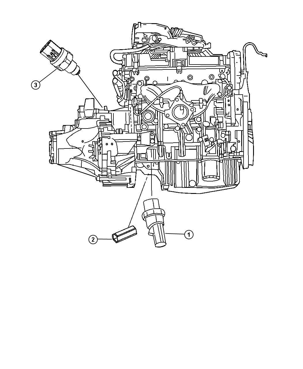 Chrysler Sebring Sending Unit Switch Oil Pressure