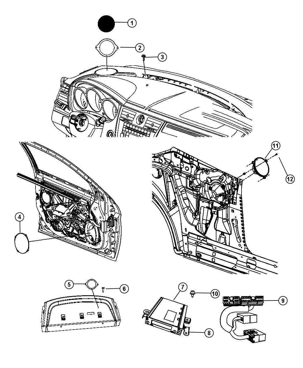 2009 Chrysler Sebring Wiring. Jumper. Amplifier. [6 boston