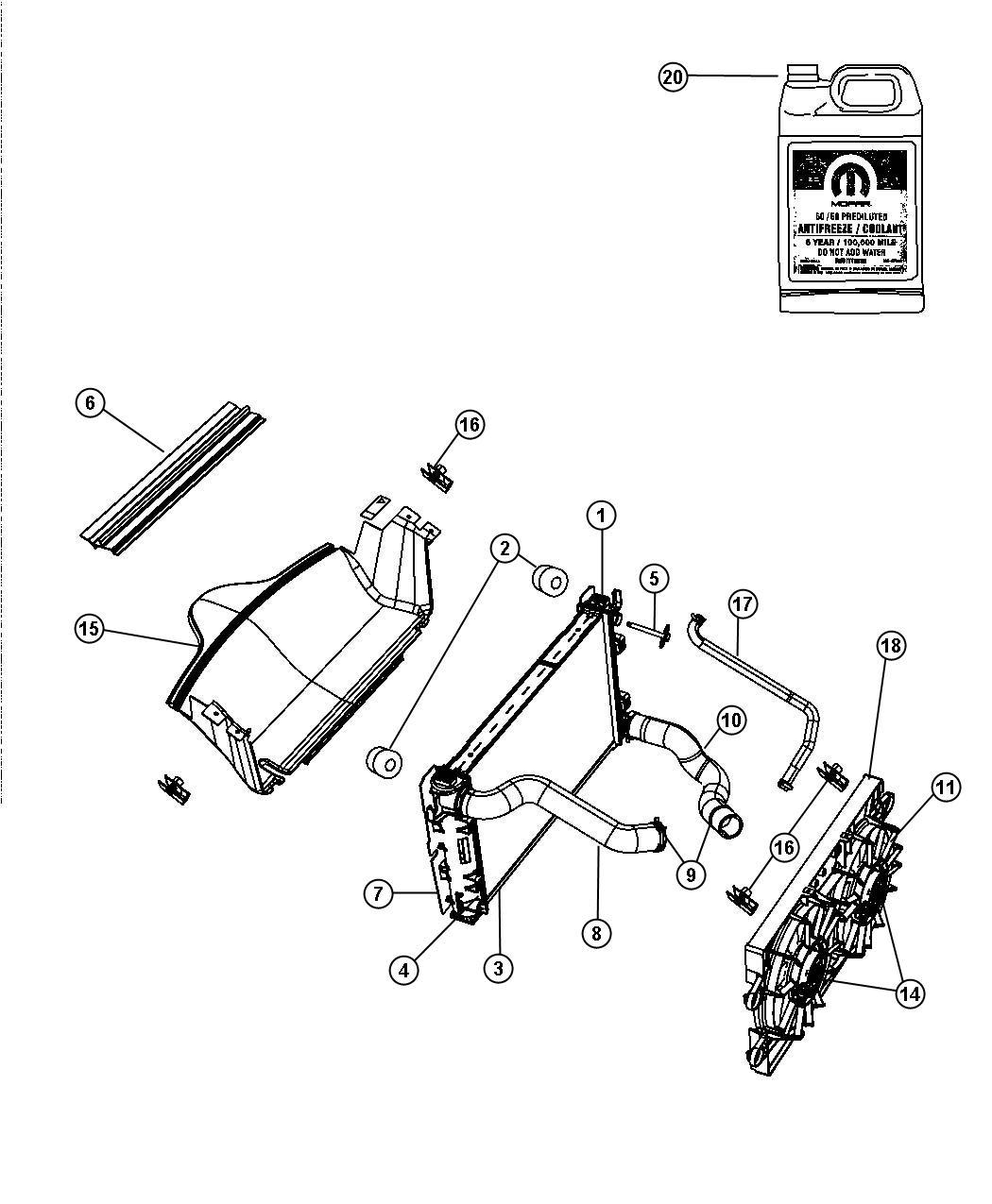 Dodge Viper Baffle Air Radiator