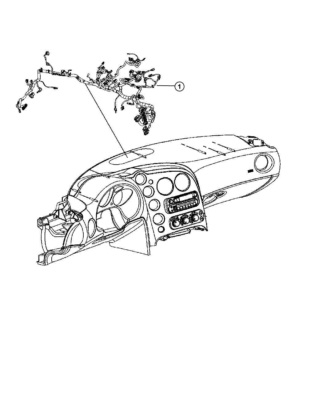 Dodge Viper Wiring. Instrument panel. Trim: [all trim