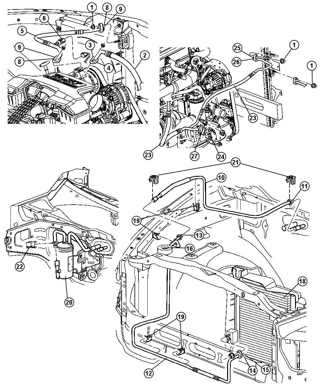 2004 Dodge Ram 1500 Accumulator. Air conditioning, used