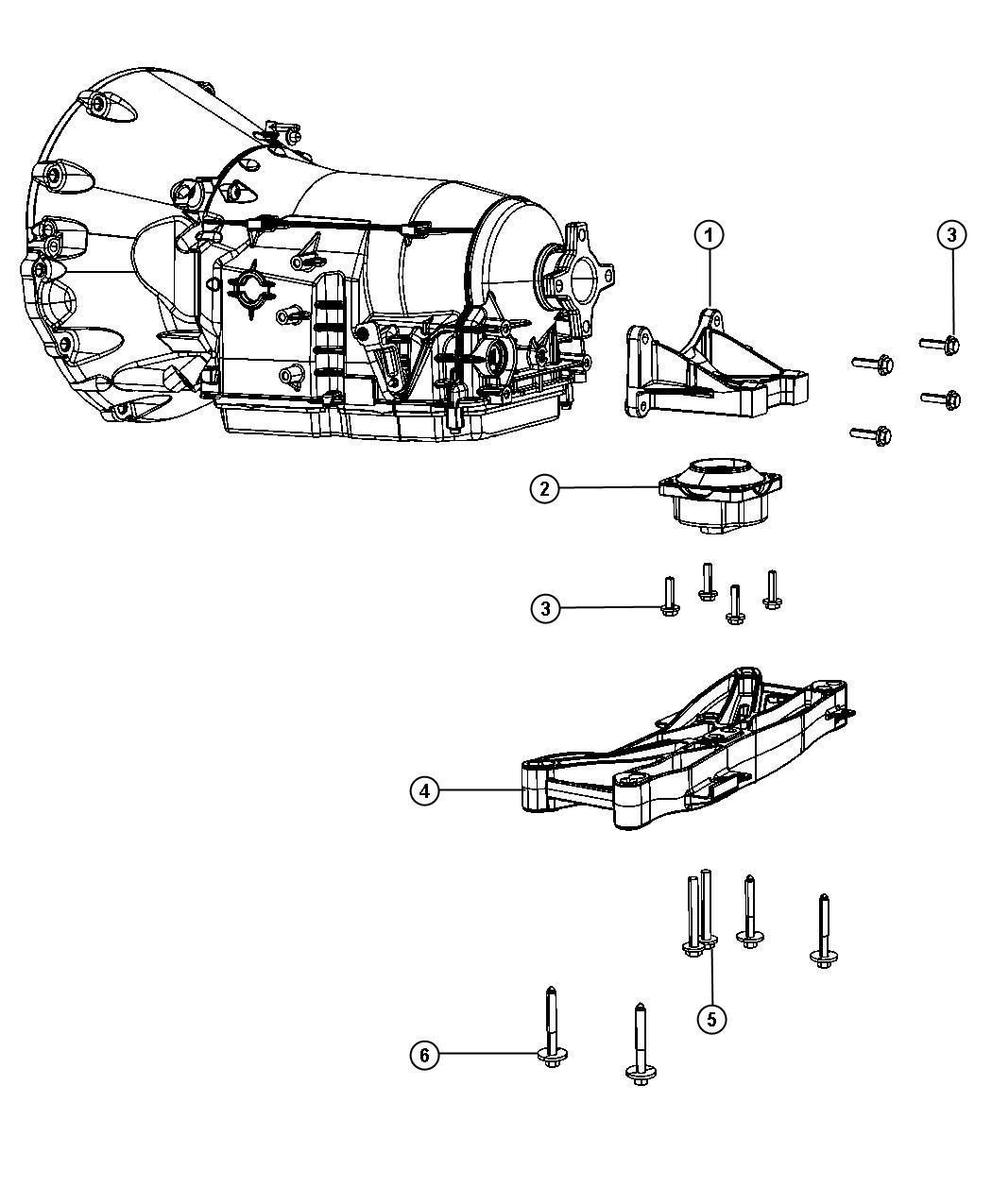 2009 Dodge Challenger Mount. Transmission. Engine