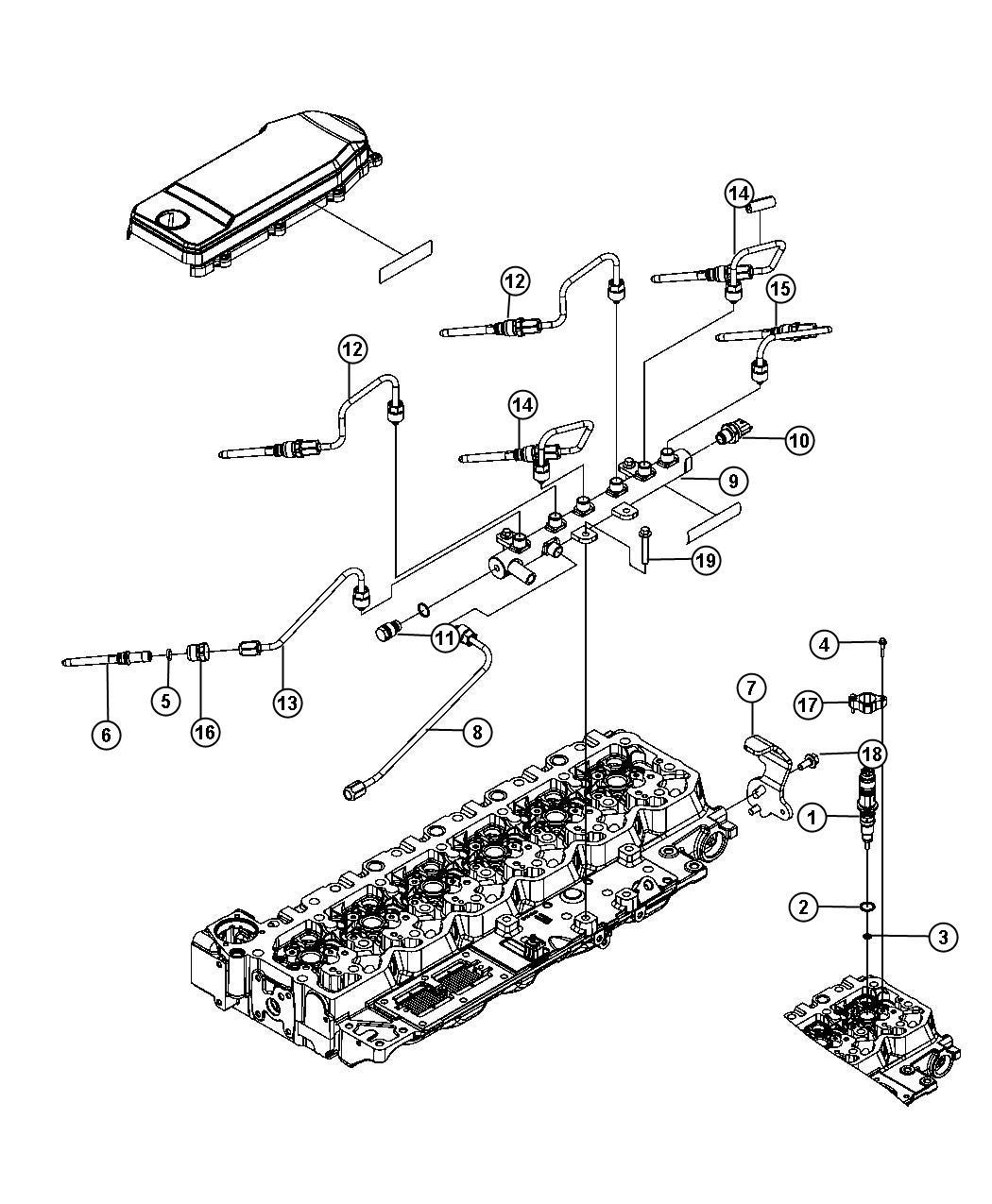 Dodge Ram Injector Fuel Emissions Plumbing