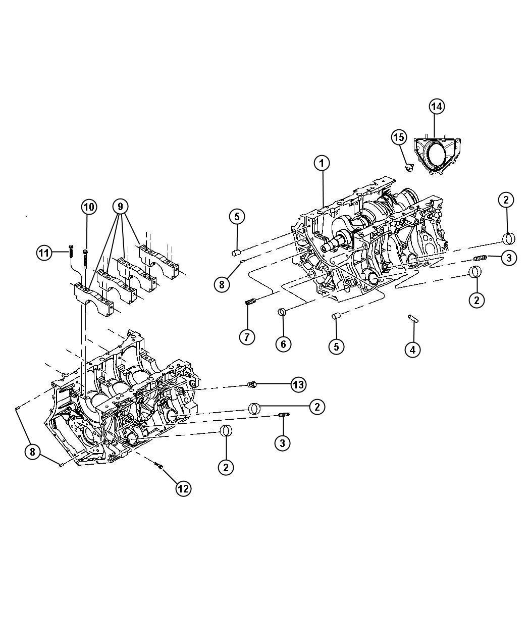 2001 Dodge Stratus Engine. Long block. Return, new, core