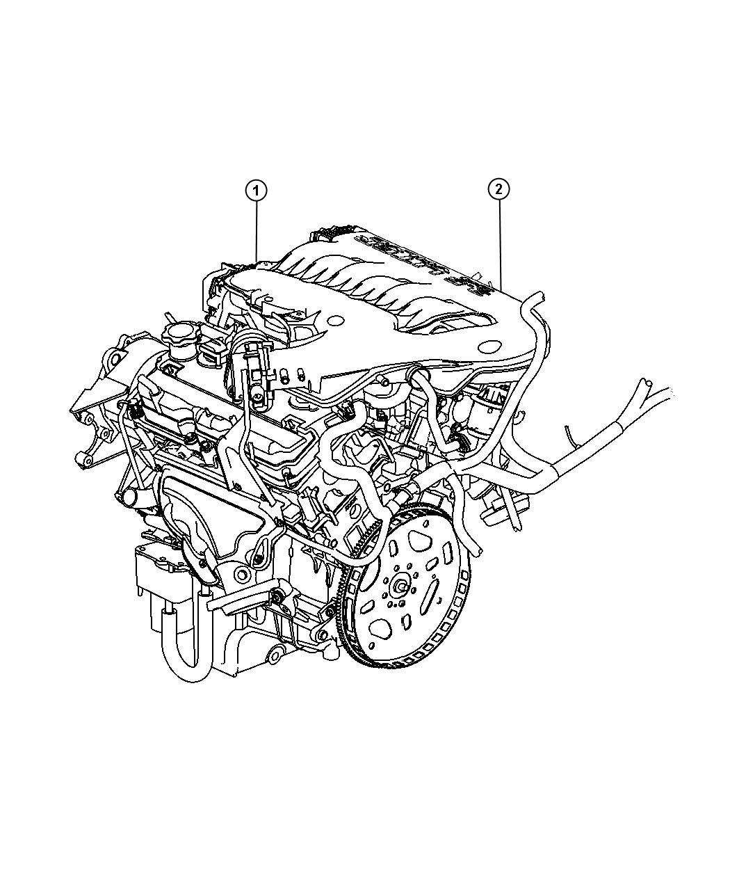 Chrysler Sebring Engine Long Block Remanufactured