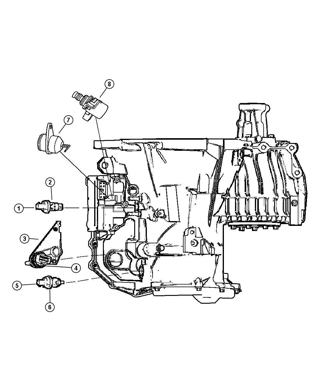 Dodge Challenger Sensor, solenoid. Trans variable force