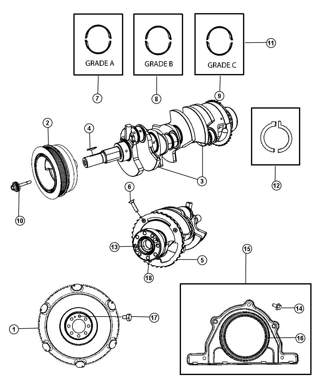 Dodge Challenger Flywheel. Manual transmission, ring gear
