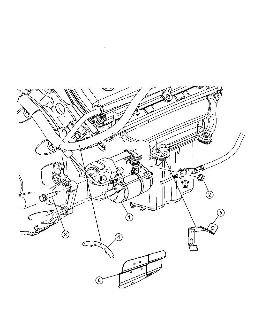 Chrysler 300 Starter Engine Hemi Related Mds