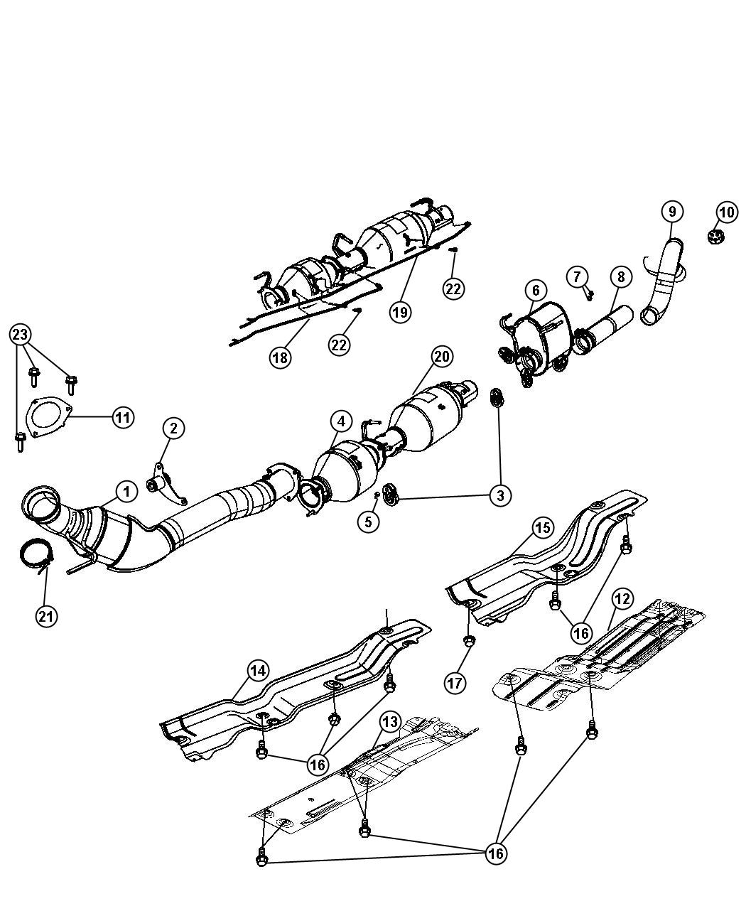 2011 Jeep Compass Pipe. Exhaust extension. System, eth