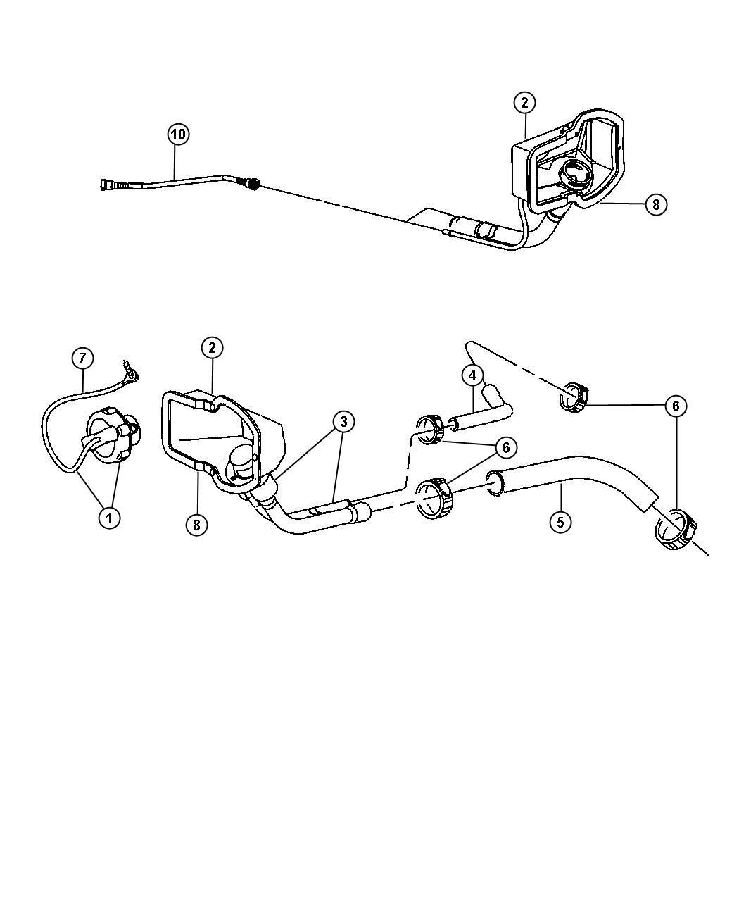 Dodge Ram Tube Fuel Vapor Recirculation 34 Gallon
