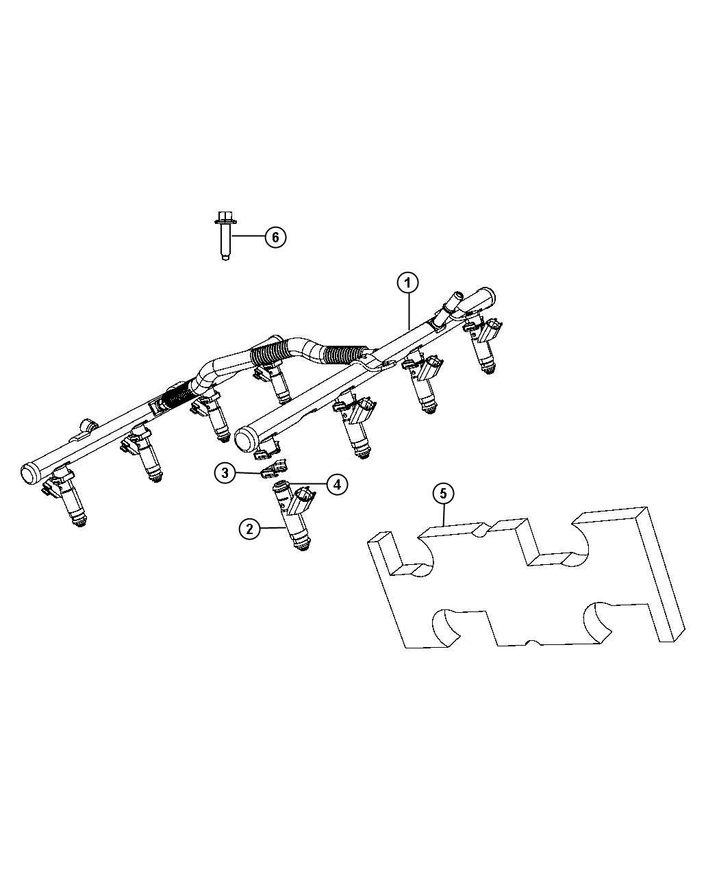 Dodge Ram 1500 Rail. Fuel. [5.7l v8 hemi mds vct engine