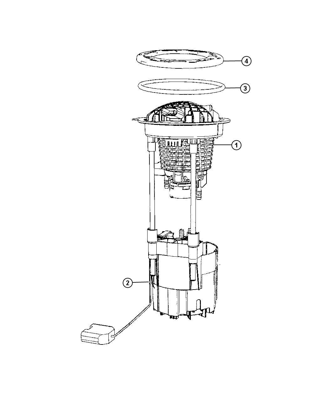 Dodge Ram Module Fuel Pump Level Unit Engine