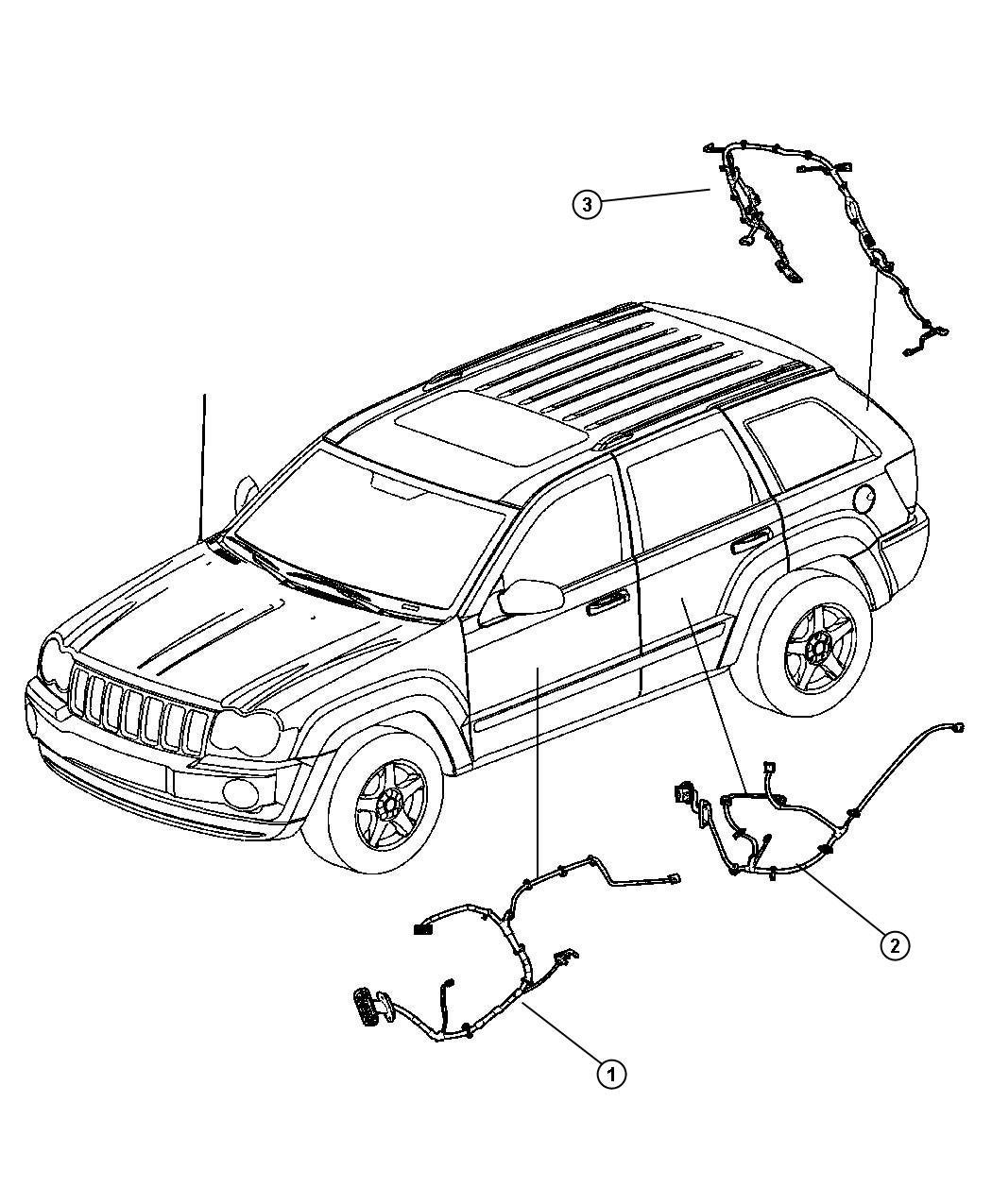 2008 Jeep Grand Cherokee Wiring. Liftgate. [parkview(tm