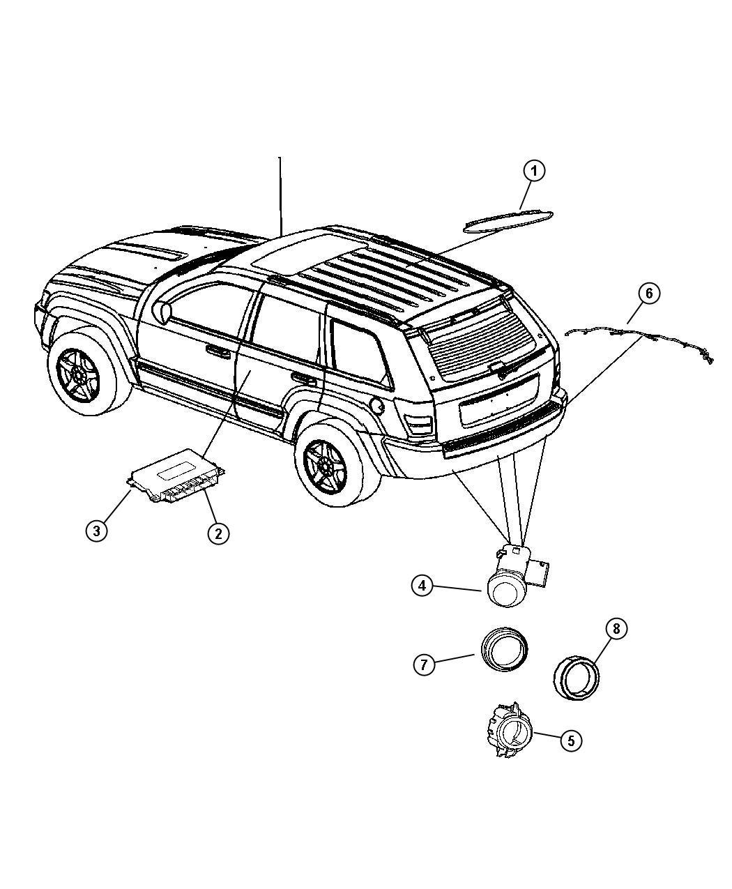 Dodge Challenger Harness Wiring Rear Fascia Sensor