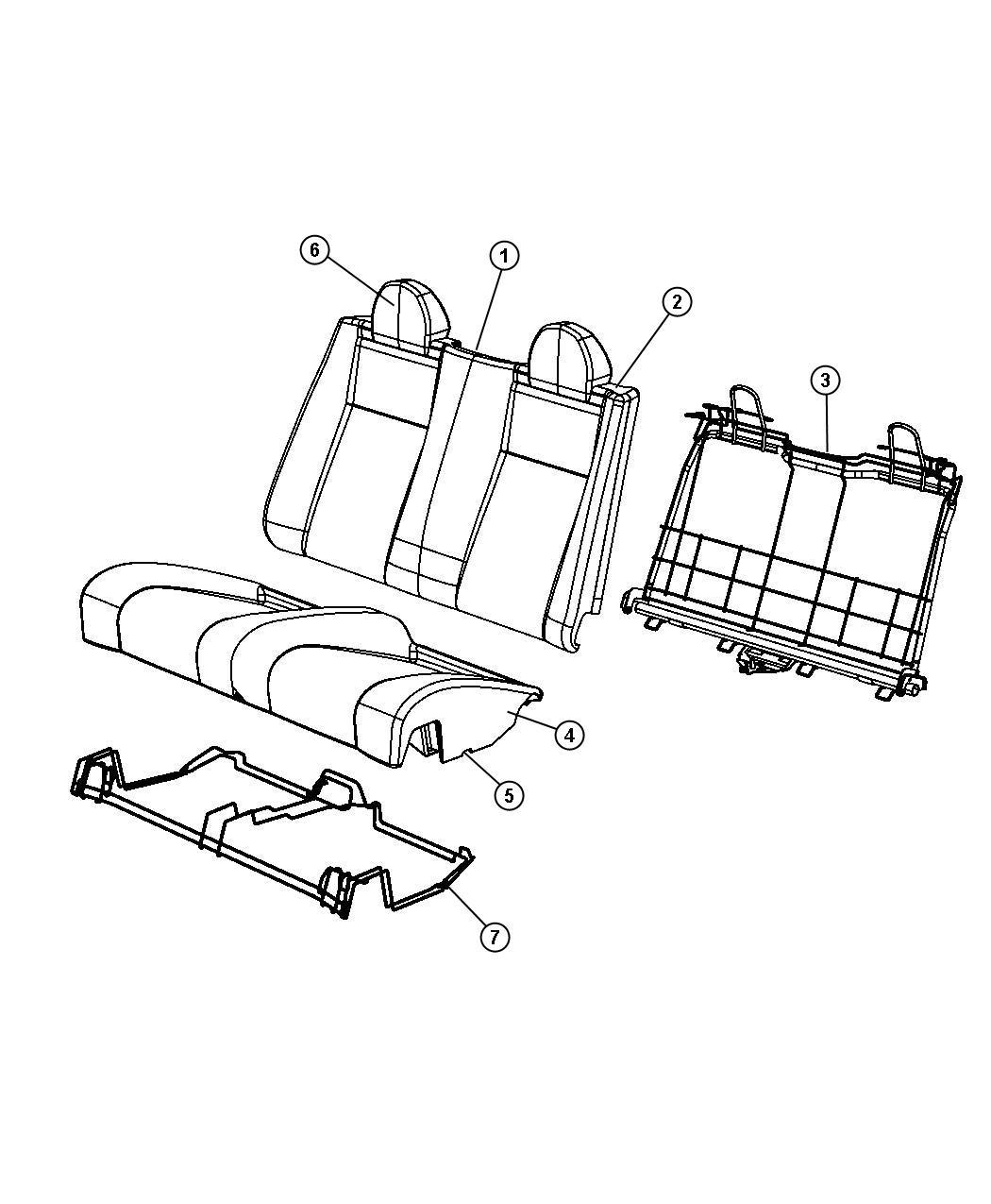 Chrysler Sebring Headrest. Rear. [dv]. Trim: [prem leather