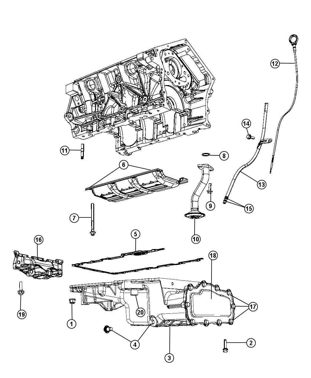 Chrysler Sebring Pan Oil Includes Oil Filter Fitting