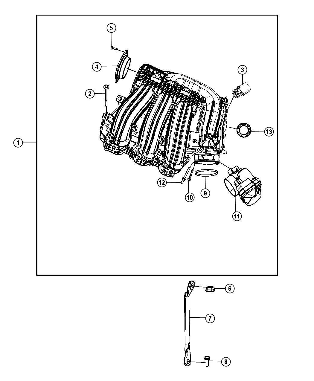 Chrysler Sebring Plenum Intake Manifold