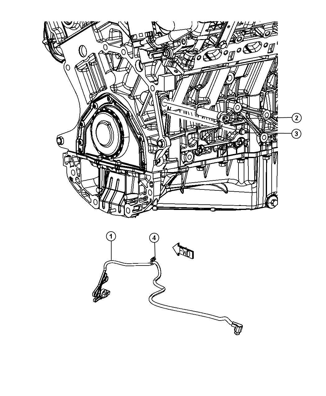 Chrysler Sebring Tie Strap Heater Engine Block