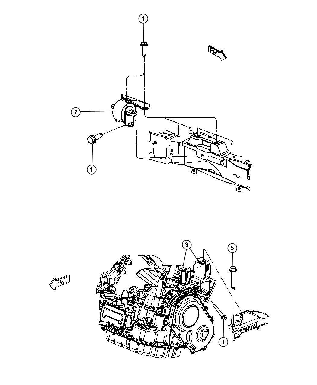 Dodge Avenger Isolator. Transmission mount. Left, left