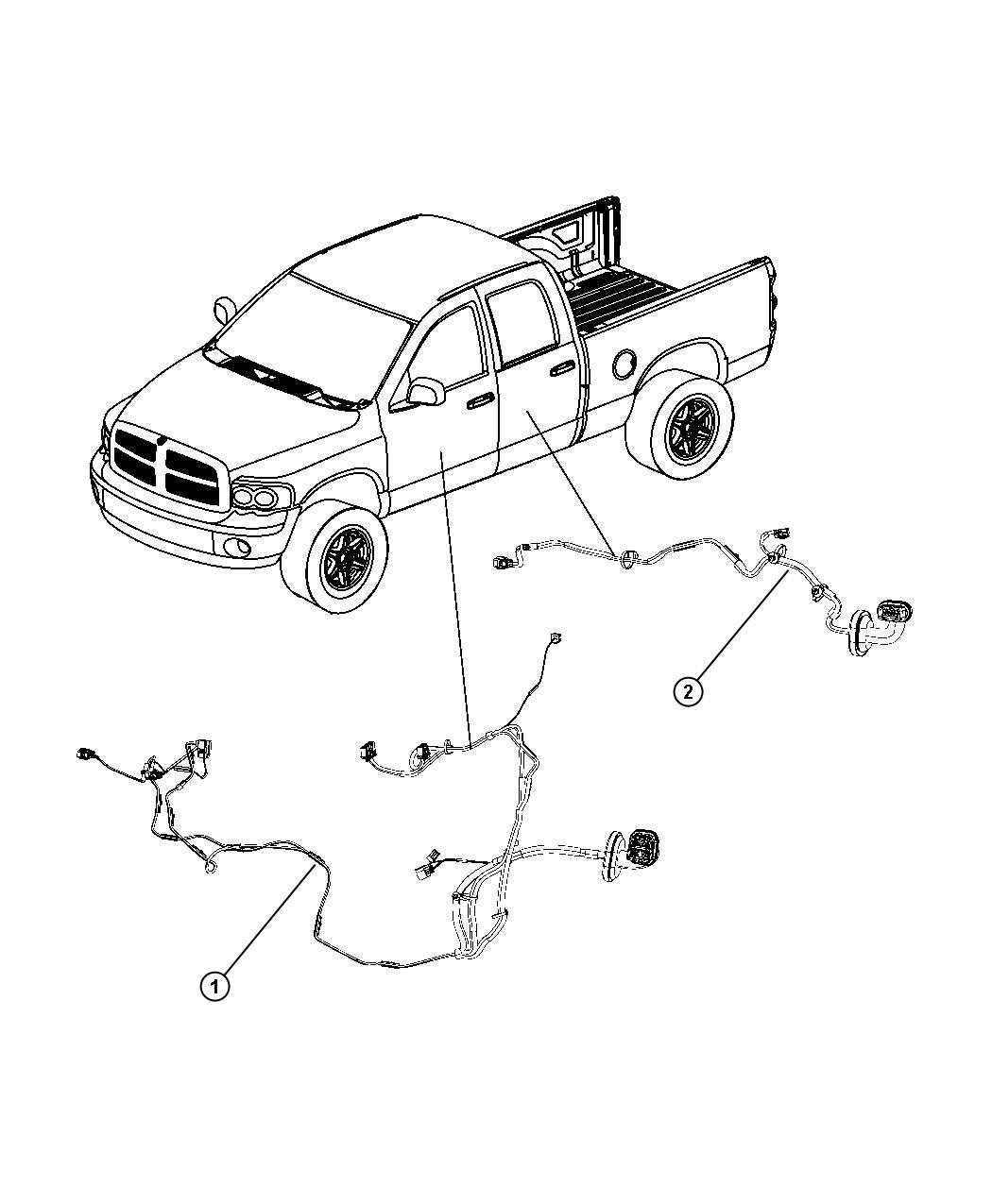 Dodge Ram 2500 Wiring. Rear door. Right or left. [power