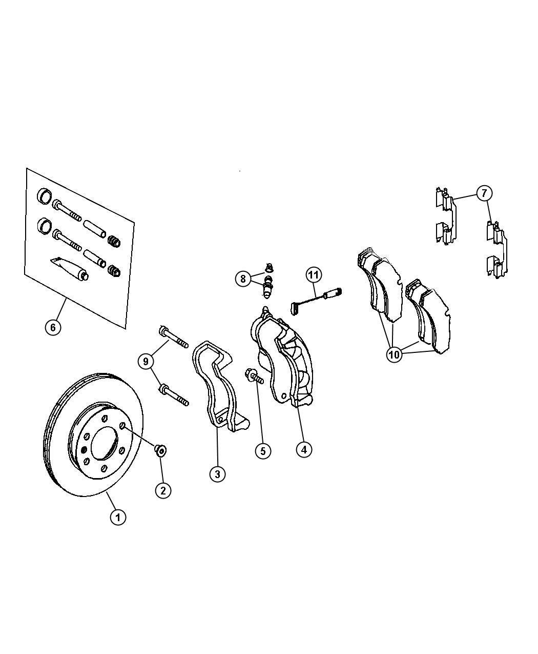 Dodge SPRINTER Rotor. Brake. Brakes, front, maintenance