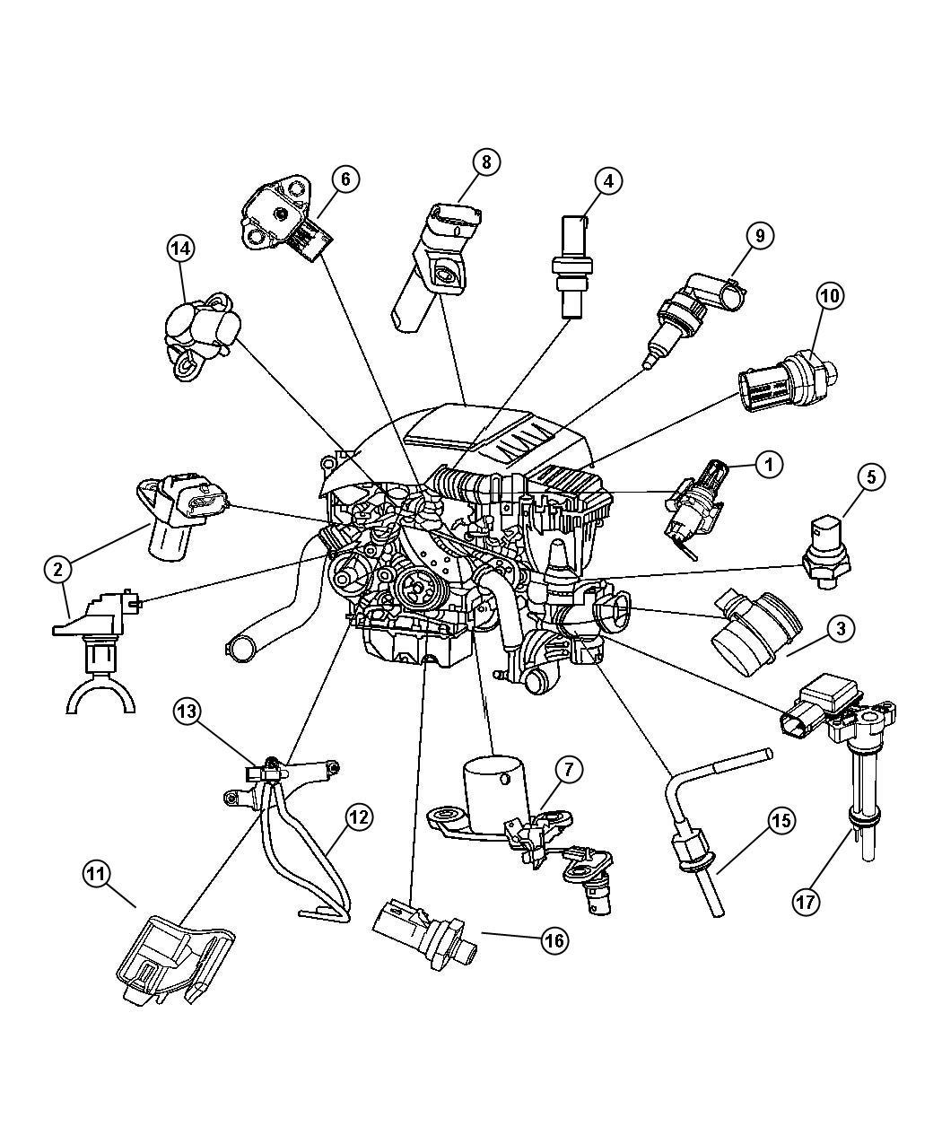 2011 Dodge Ram 5500 Sending unit, sensor. Oil level, oil