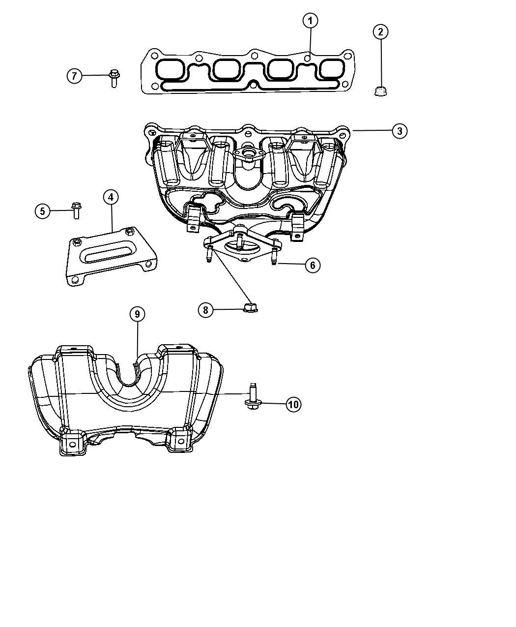Jeep Compass Shield. Exhaust manifold. Upper. Edg, module