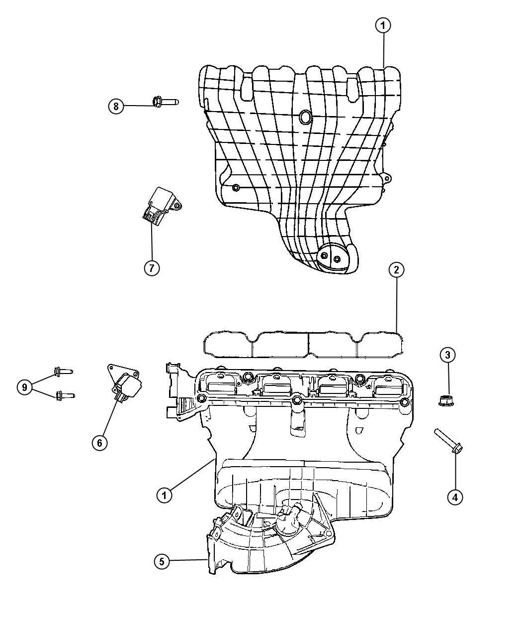 Jeep Patriot Manifold. Intake. Pzev, vvt, engine