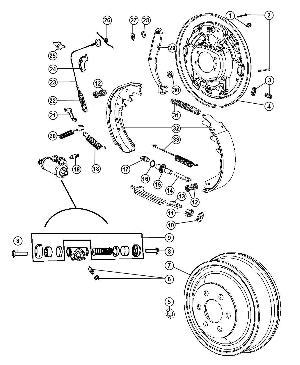 1998 Dodge Avenger Plate. Brake backing. Right. Bka