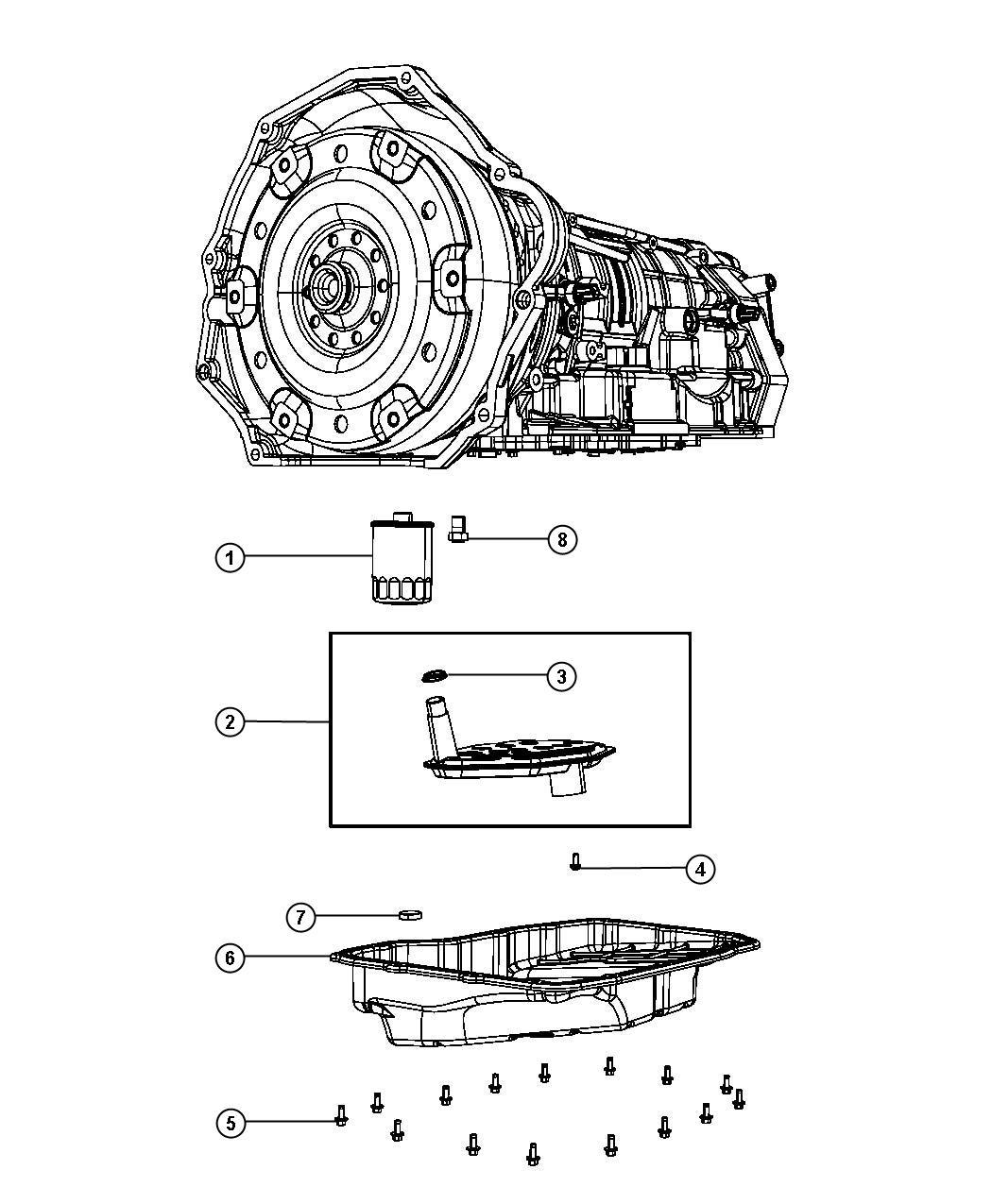 Dodge Ram 2500 Filter, filter package. Transmission oil