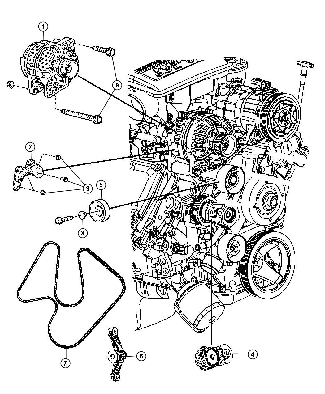 Dodge Ram Bracket Idler Pulley Heater